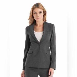 NWT GUESS MARCIANO gray Stella collarless blazer 0
